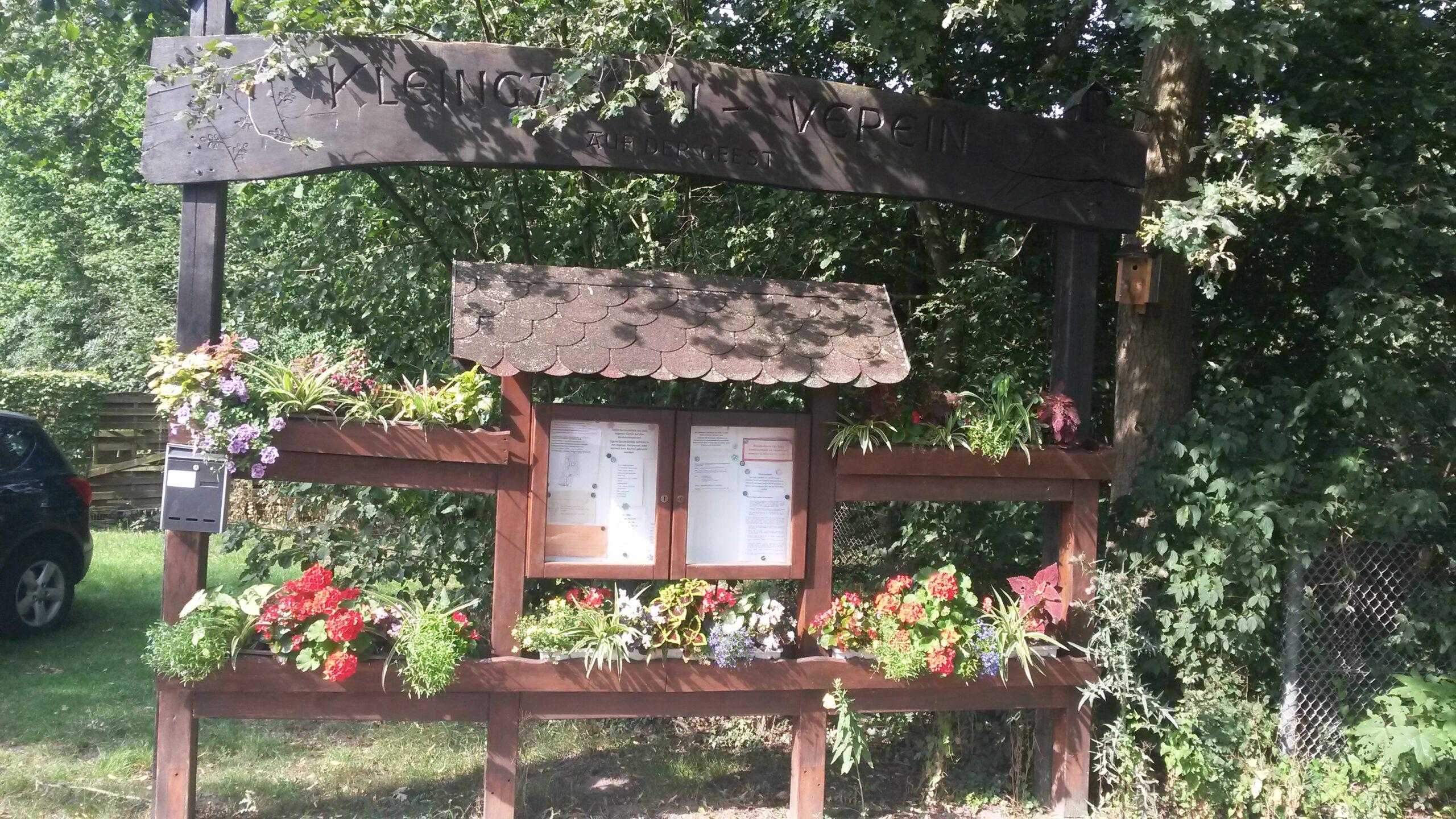 Eingang zu unseren Kleingartenanlage